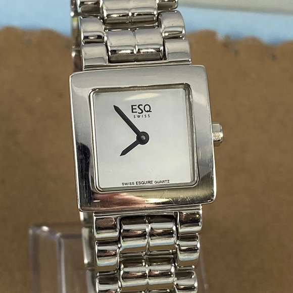 Movado ESQ Stainless Steel Watch Mirror Face
